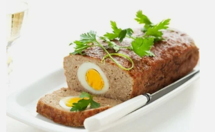 Meatloaf with egg on the Dukan diet